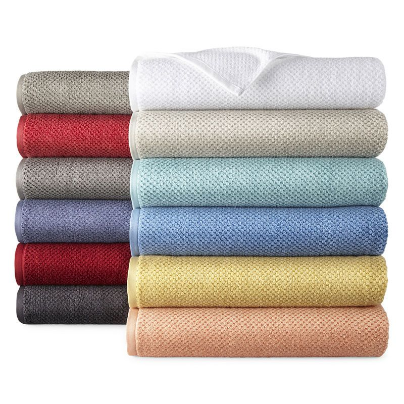 Jcpenney Home Quick Dri Textured Solid Bath Towels Towel Bath