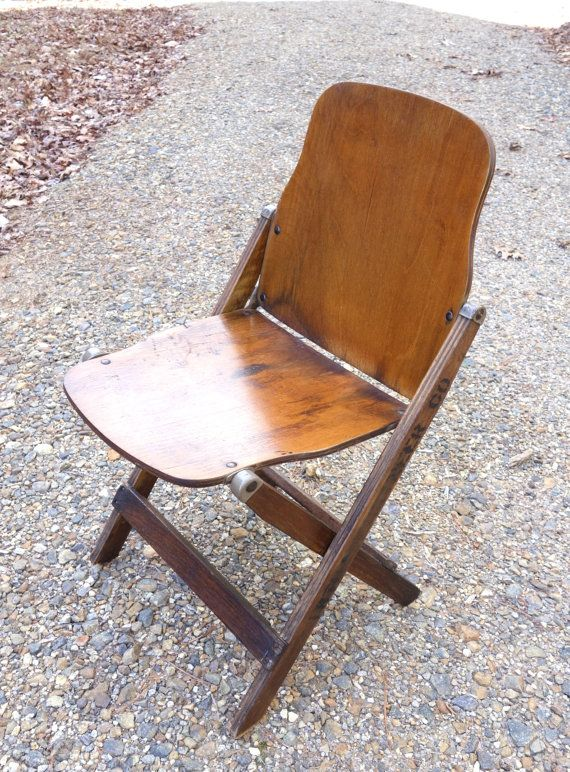 1940s Army Wooden Folding Chair Vintage 18th By Beehavenhome The
