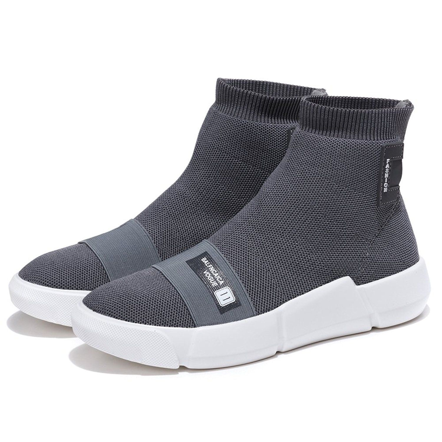 52dcee7508eb0 KONHILL Women s Breathable High - Top Walking Casual Athletic Sneaker Ankle  Boots Socks Shoes leathershoes  leather  shoesformen  leathershoesformen ...