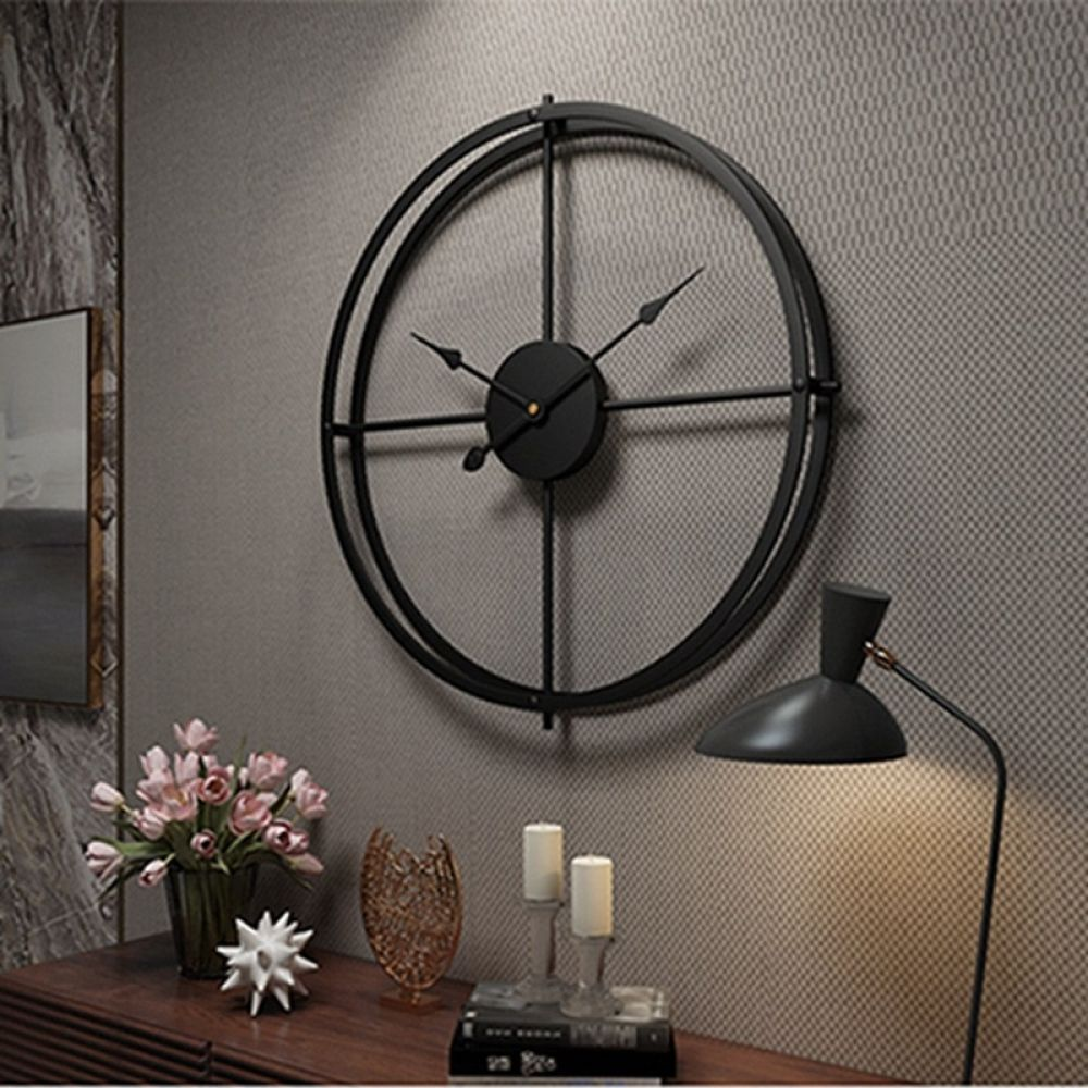 2019 Creative Wall Clock Modern Design For Home Office Decorative Hanging Living Room Classic Brief Metal Wall Watch Wall Clock Modern Wall Clock Classic Minimalist Wall Clocks
