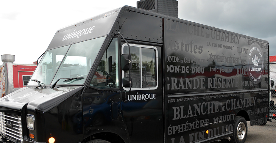 This Is The Black Cycles B Truck Built By Camion Unique Truck Inc Trucks Unique Food Truck
