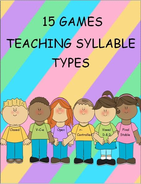 This is a packet of games that students can play and have fun learning about the 6 syllable types. It includes 65 pages of syllable type word cards and a variety of 15 games. Students will become better readers as they learn to differentiate the 6 syllable types. They will see words in a whole new way.