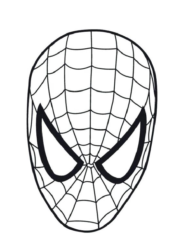 Learn To Draw A Usual Face Of Spider Man In 3 Min Recommended For Kids Spiderman Coloring Captain America Coloring Pages Spiderman Drawing