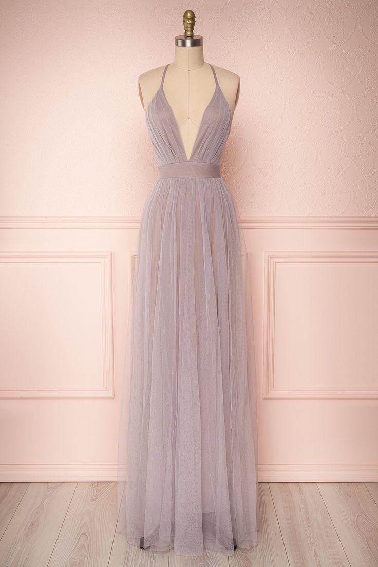 Dusty Purple Prom Dresses Prom Beautiful Prom Dresses Tulle Maxi Dress Purple Prom Dress [ 1104 x 736 Pixel ]