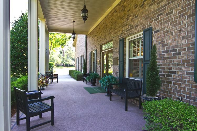 Our funeral home patio James A. Dyal Funeral Home http