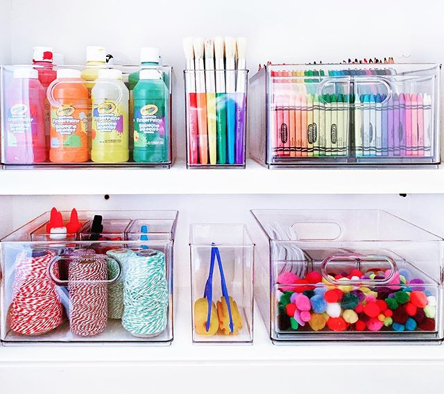 The Home Edit On Instagram Our Collection Of Bins And Baby Bins Are The Perfect Way To Craft Room Organization Kids Craft Storage Art Supply Organization