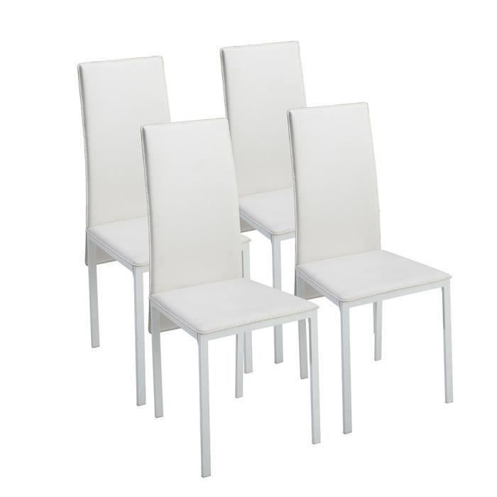 Lot 4 Chaises Blanches