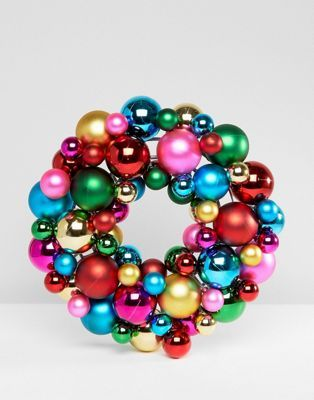 Paperchase Christmas 34cm Bauble Wreath Decoration | ASOS #baublewreath