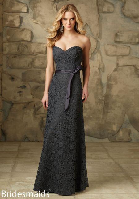 Mori Lee Bridesmaids Dress 103  Store Sample in Charcoal, Size 10 #InWhiteSpringfield