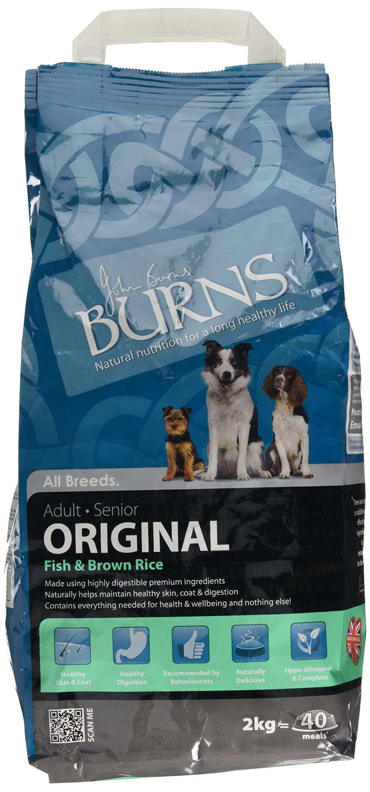 Burns Pet Food Burns Dog Food Adult Fish And Brown Rice 2kg