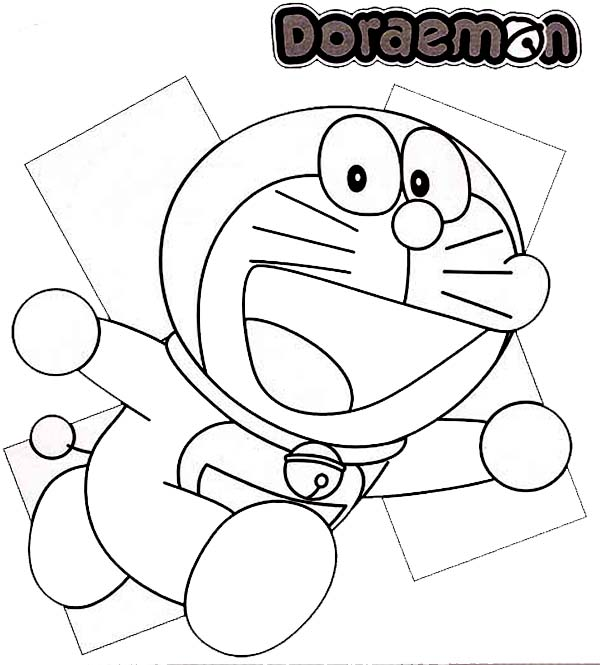 Running Doraemon Coloring Pages Netart Gambar