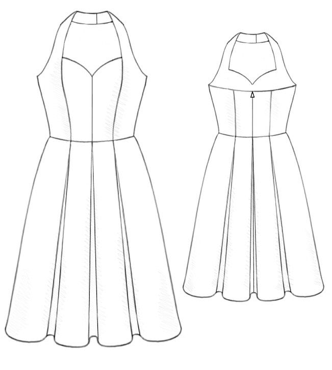 Ball Dress - Sewing Pattern #5195 Made-to-measure sewing pattern ...