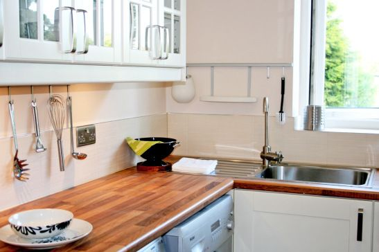 Project Brighton \u2013 Cream Ikea  walnut kitchen Ikea adel kitchen