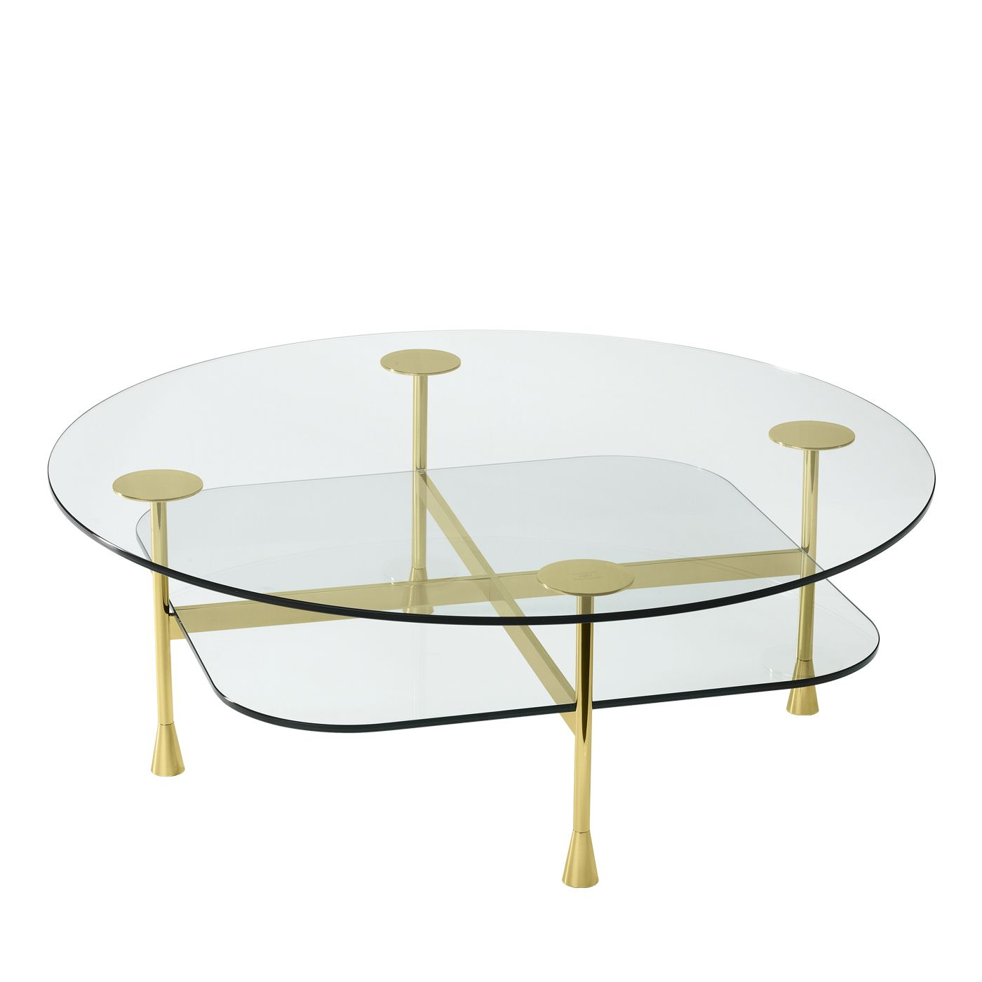 Da Vinci Coffee Table In Crystal And Polished Brass By Richard Hutten In 2021 Coffee Table Vintage Side Table Table [ 1400 x 1400 Pixel ]