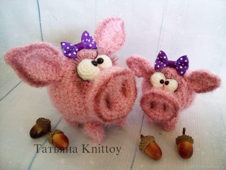 f71ad628ddb4 Вязание ручной работы. Ярмарка Мастеров - ручная работа. Купить Мастер-класс  Свинка Хрюбэль (2 размера). Handmade. свинья