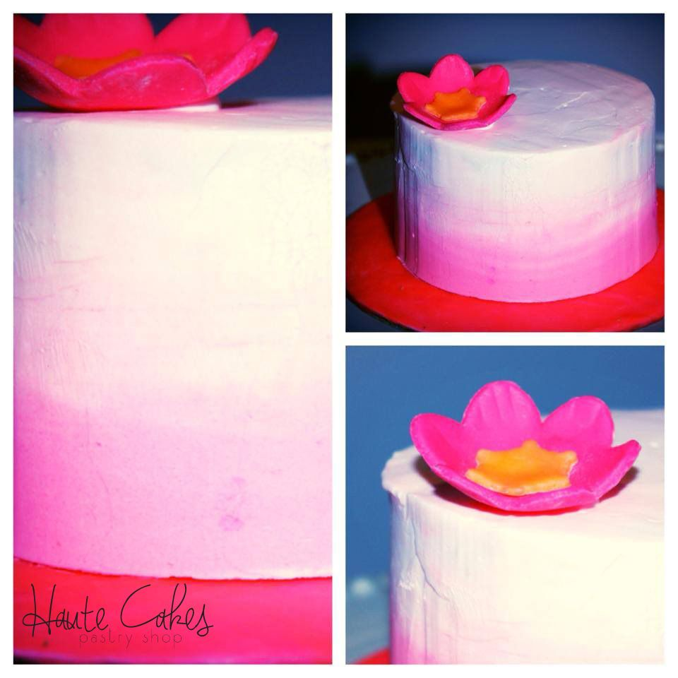 Baby Girl Pink Ombre Smash Cake | Haute Cakes Pastry Shop