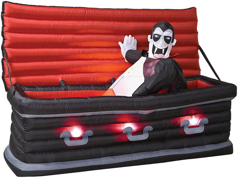 walmart long airblown halloween inflatable animated rising vampire from coffin - Vampire Halloween Decorations