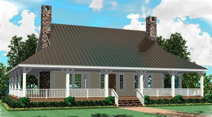 653684 - 3 bedroom 2.5 bath southern house plan with wrap around