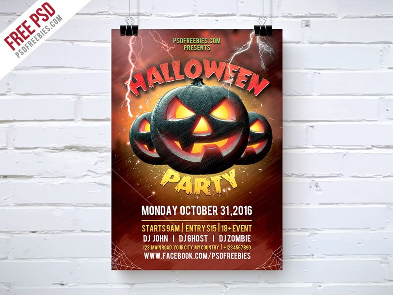 Download Halloween Party Flyer Template Free Psd A Perfect Design