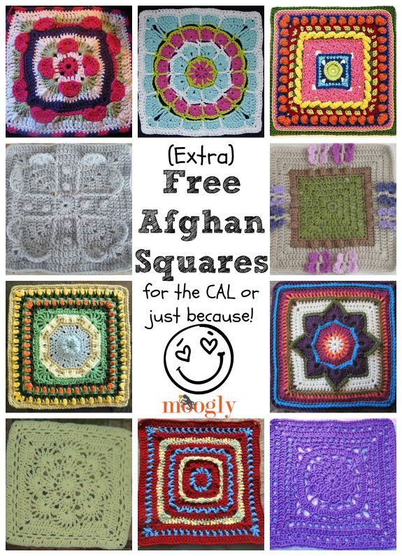 10 Free Afghan Squares Crochet Patterns | Afgan Squares | Pinterest ...