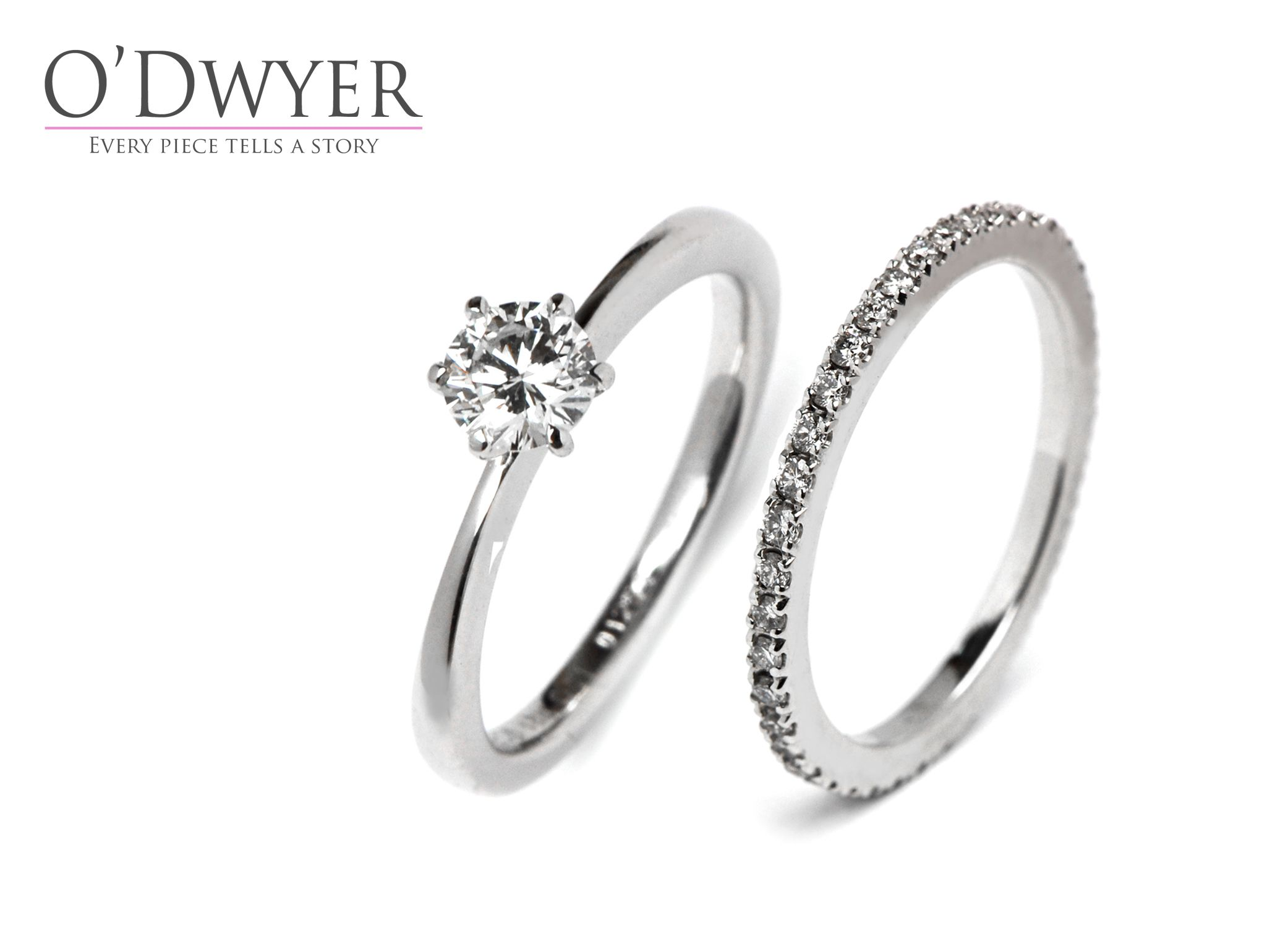 Solitaire Ring - 18ct white gold rings with diamonds. Förlovningsring  Vigselring 7c34110d452f6
