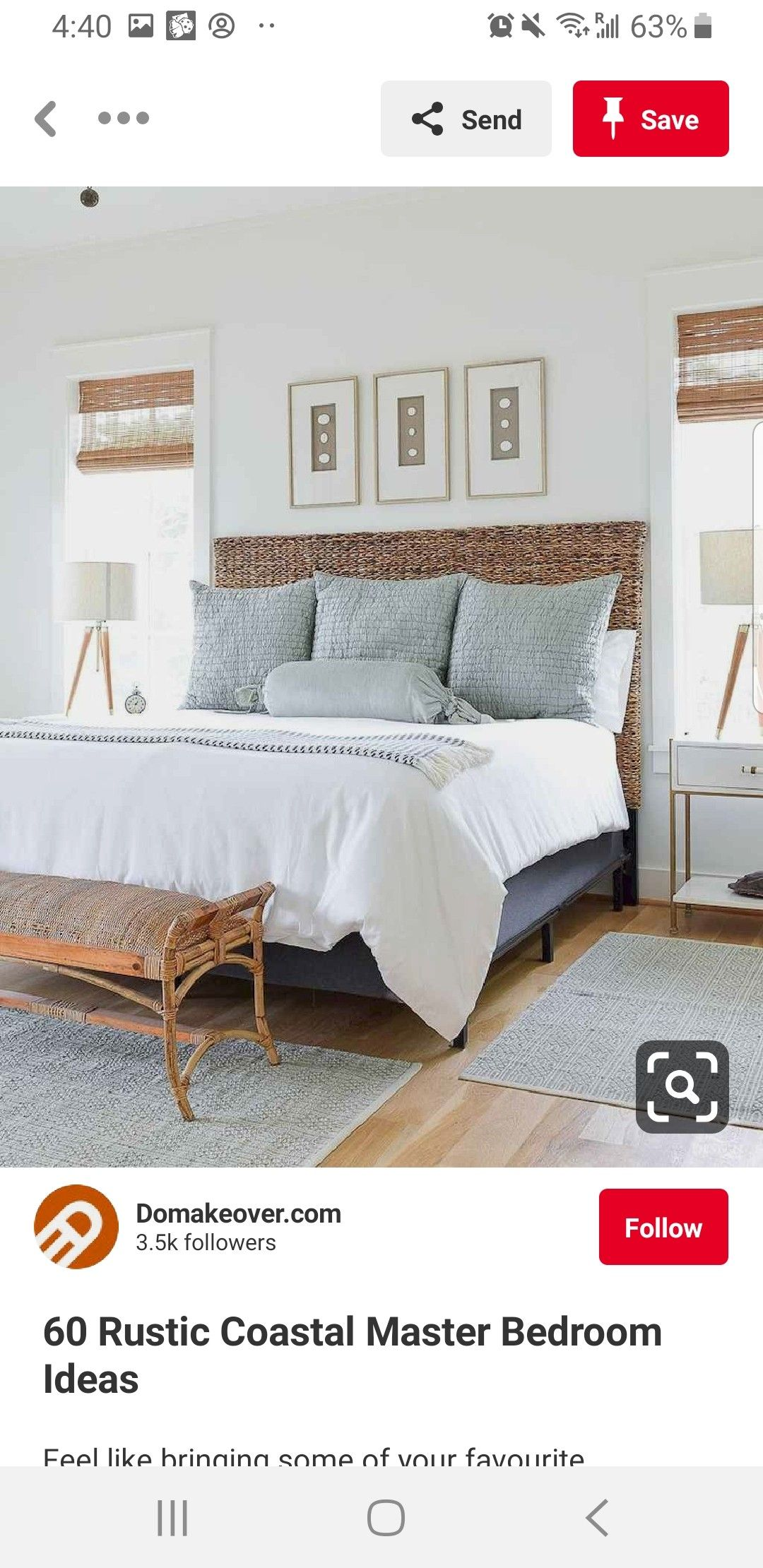 Pin by Shannon Blestel on home Coastal master bedroom