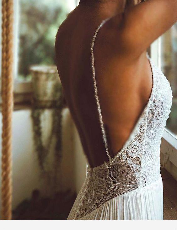 43 der schönsten rückenfreien Brautkleider - Hochzeit zum Staunen #weddingdr ...