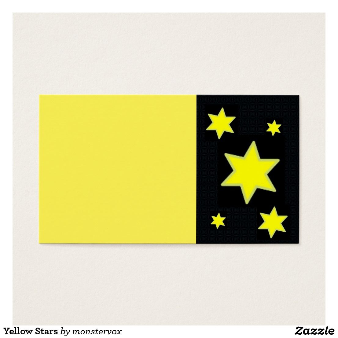 Yellow Stars Business Card   Astrology, Business cards and Business