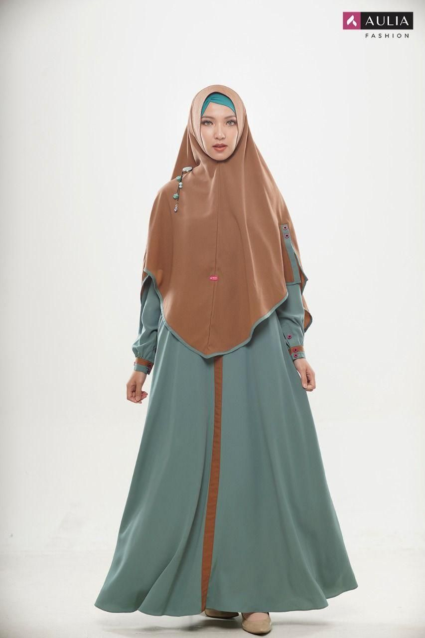 Fashion Gamis Modern Terbaru 2020 By Aulia Fashion Model Baju Wanita Model Pakaian Muslim Model Pakaian