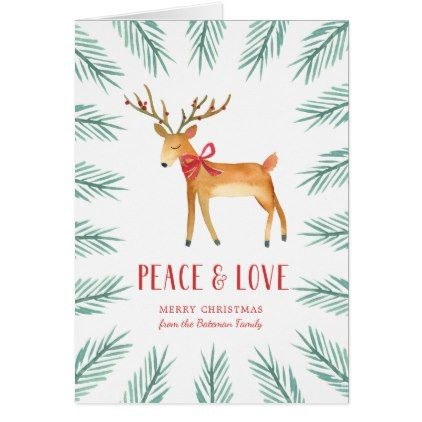 christmas deer holiday greeting card - Deer Christmas Cards