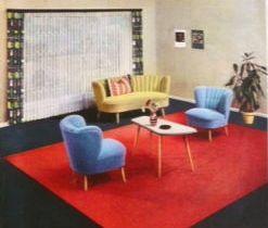 karstadt werbung aus den f nfziger jahren cocktailsessel plus cocktailtisch 50er jahre 50er. Black Bedroom Furniture Sets. Home Design Ideas