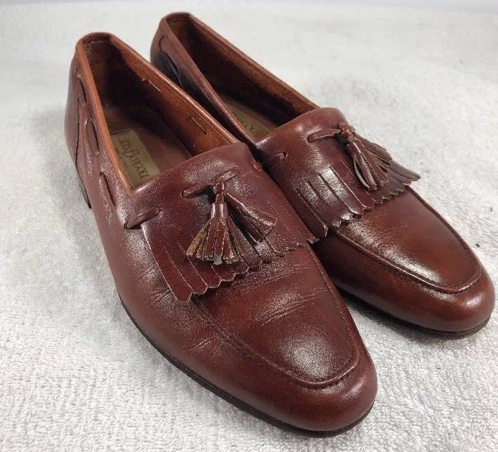 e88c54d36df37f Carlo Borgoli Leather Kiltie Tassel Loafers Mens Shoe Italy Size 8 B