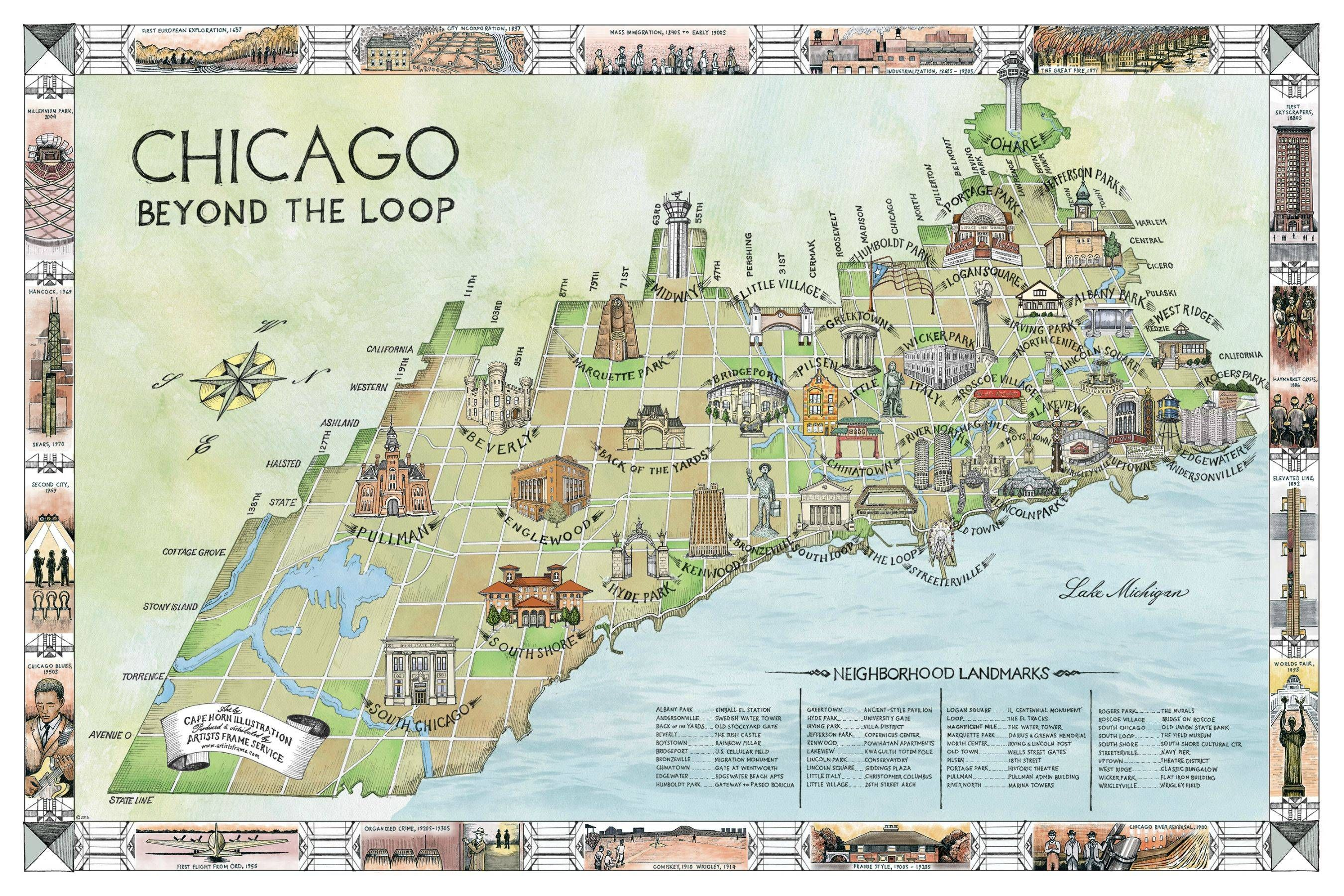 Mapping Chicago Neighborhoods By Their Landmark Buildings
