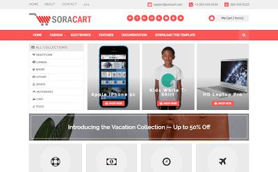 Sora Cart Blogger Template Free Download | Web design