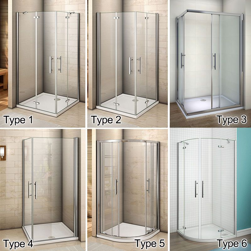 Aica Pivot Hinge Quadrant Corner Entry Shower Enclosure Cubicle Glass Door Ebay Bathroom Shower Doors Bathroom Design Small Shower Cubicles