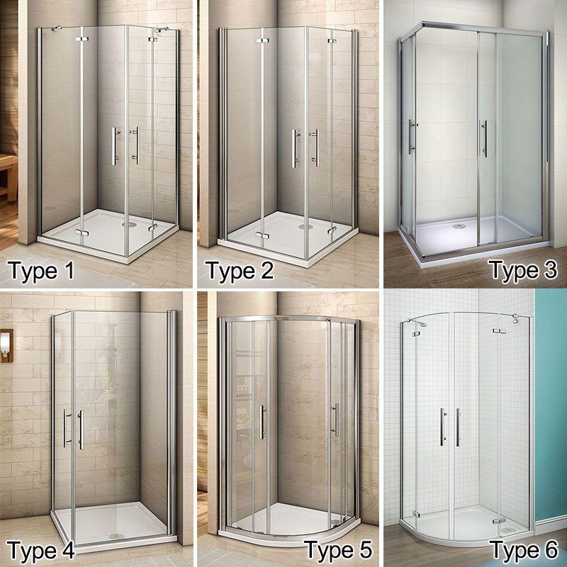 Aica Pivot Hinge Quadrant Corner Entry Shower Enclosure Cubicle Glass Door Ebay Bathroom Shower Doors Bathroom Design Small Bathroom Interior Design