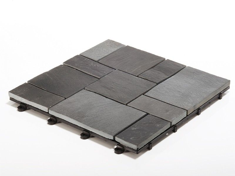 Delightful Slate Garden Tiles   Interlocking Easy To Install, These Slate Mosaic  Garden Tiles Make Any Garden Project Look As If Itu0027s Been Crafted By A  Gardening ...
