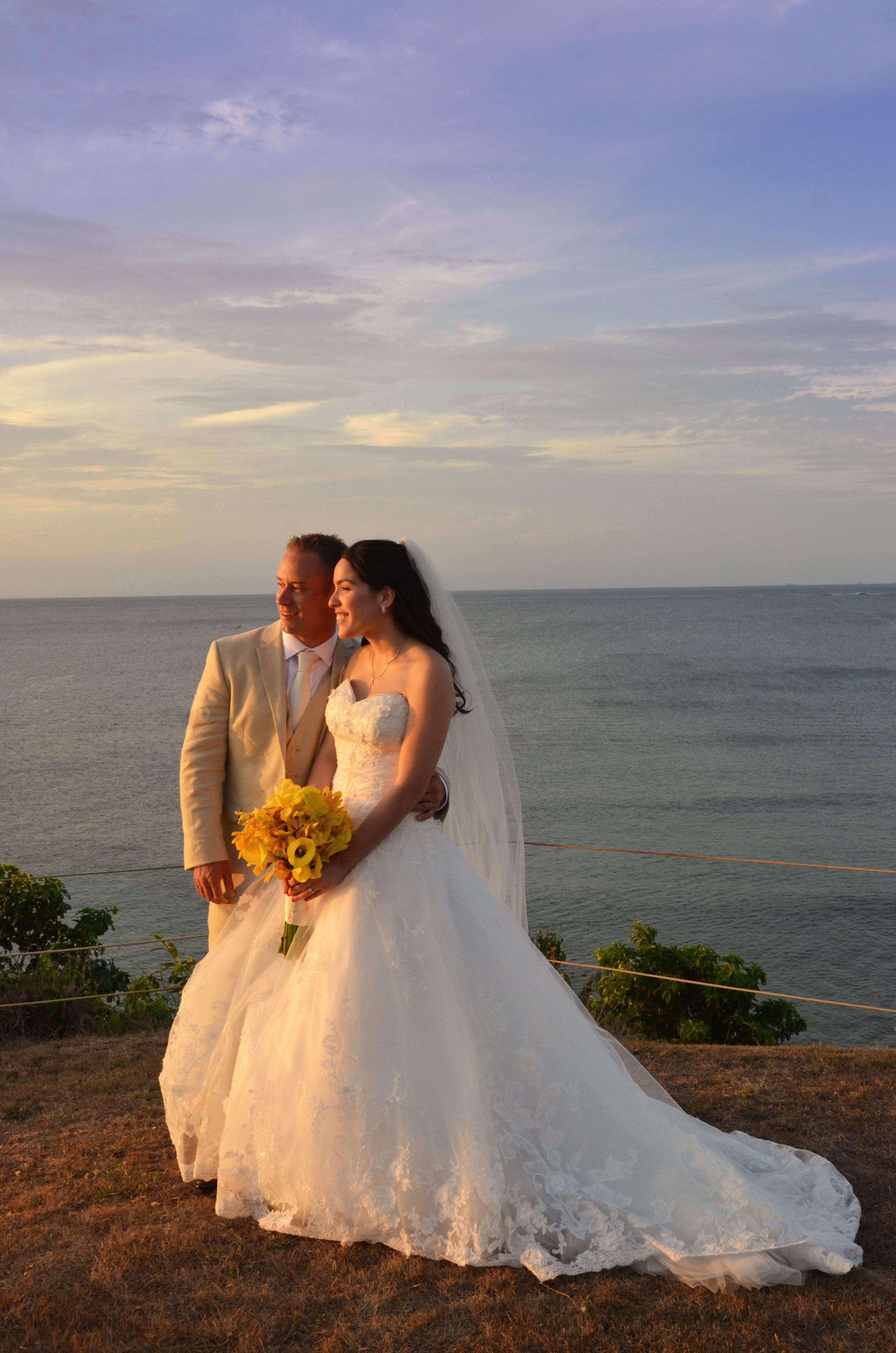A beautiful snapshot of newlyweds, Stephanie and Jared
