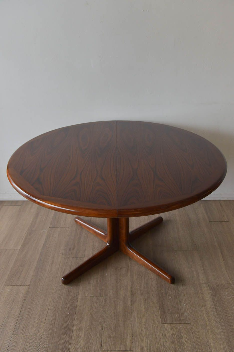 Danish Rosewood Dining Table By Dyrlund of Denmark Includes 2
