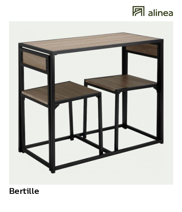 Alinea Bertille Set D Une Table Avec 2 Chaises Meubles Salle A Manger Et Cuisine Tables Fixes Alinea Meuble Salle A Manger Mobilier De Salon Chaise