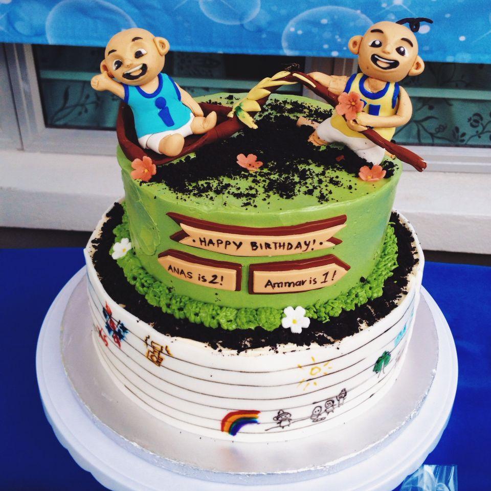 Upin Ipin Birthday Cake Jemcakesandcookies Kue