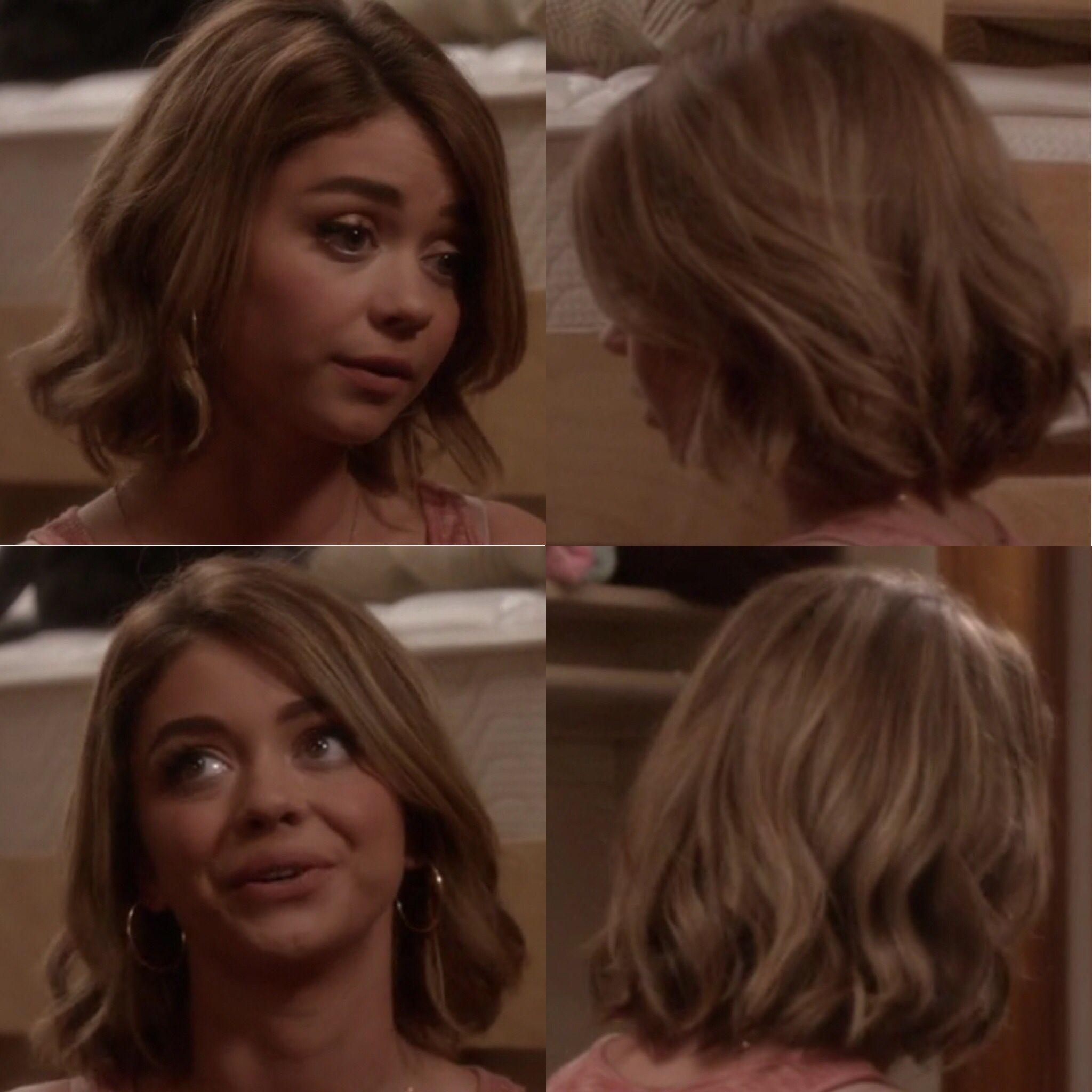 Haley Dunphy Sarah Hyland Cute Haircut For Season 7 Carre Ondule