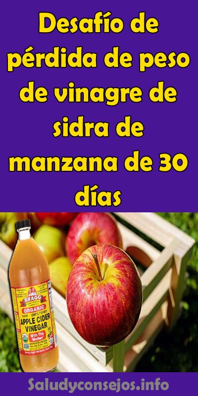 perdida de peso con vinagre de manzana