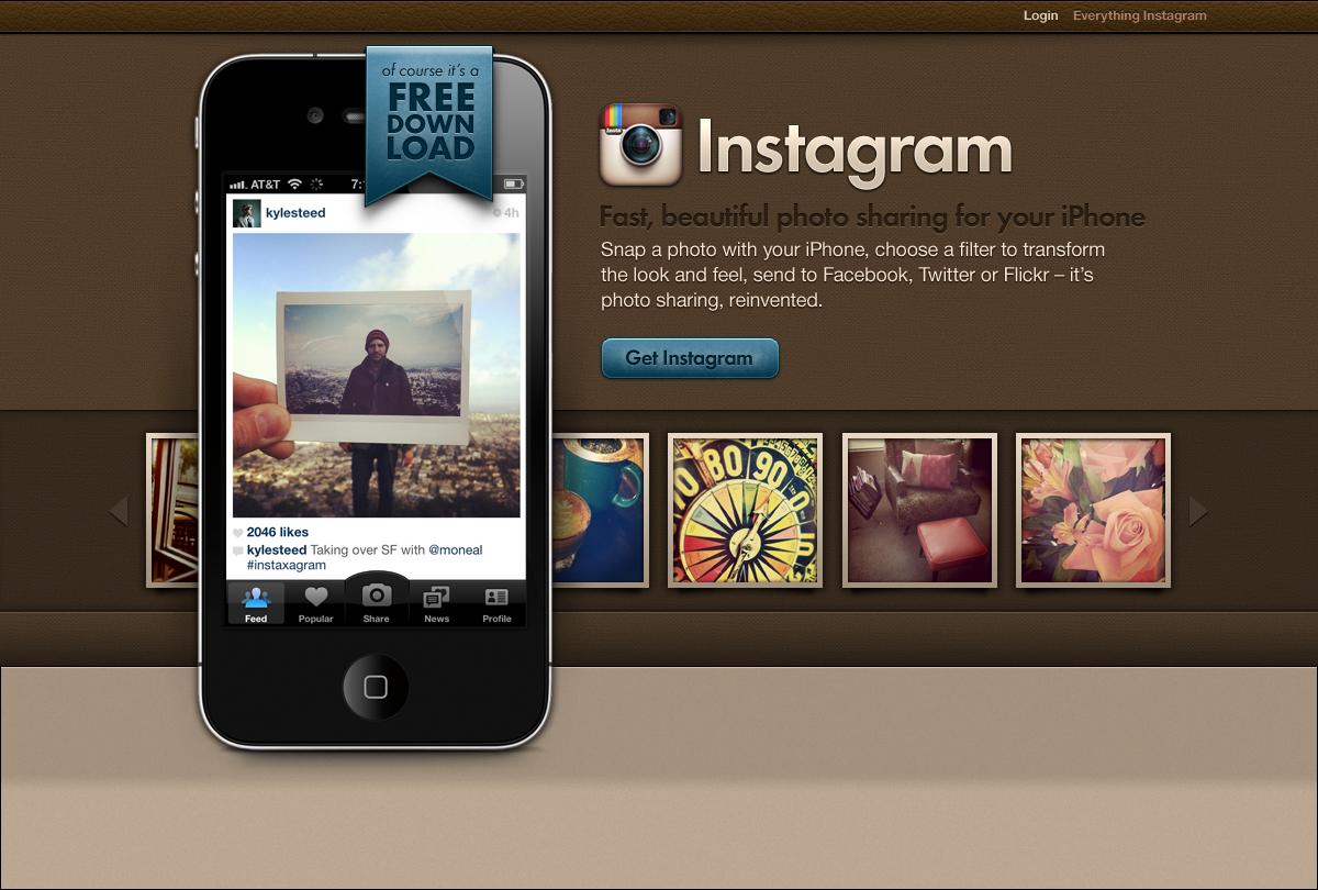 Instagram web page concept | WebDesign