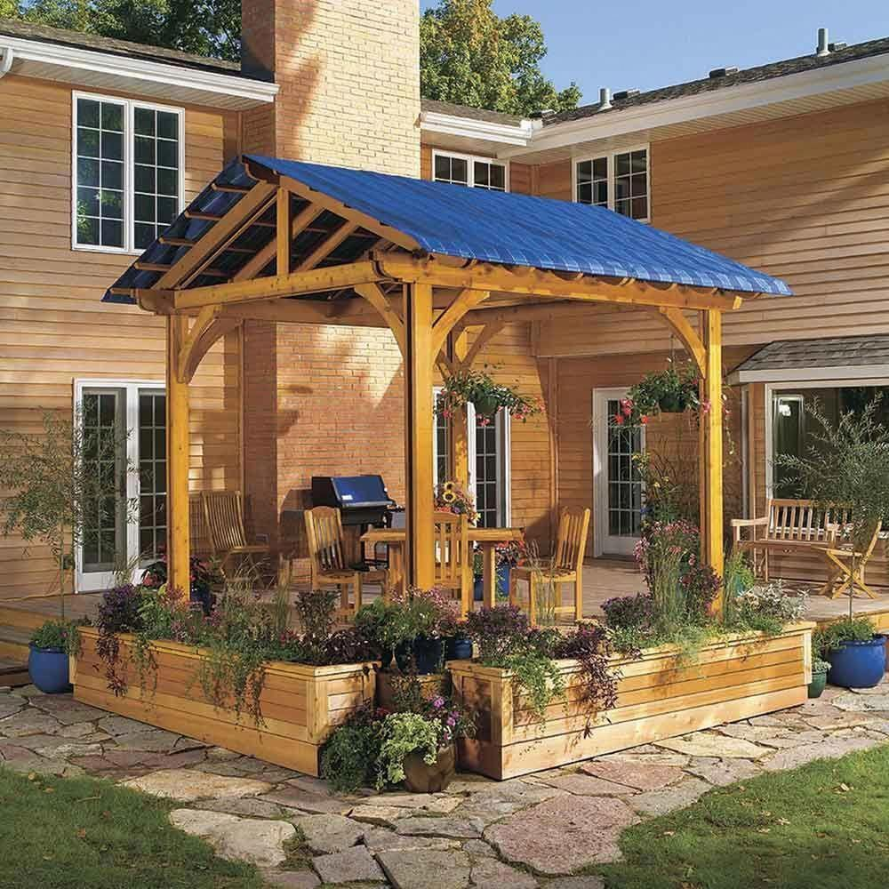 Shade Your Deck Note Good Positioning Cost Saving Shade Since It S Attached To The Deck But Not The House Perg Pergola Cost Outdoor Pergola Pergola Shade Backyard deck ideas not attached to house