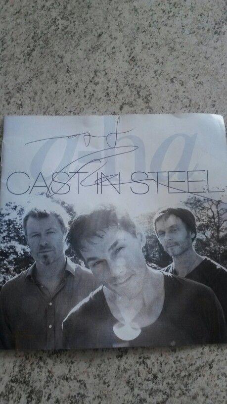 CD autográfado pelo Mags e Pål