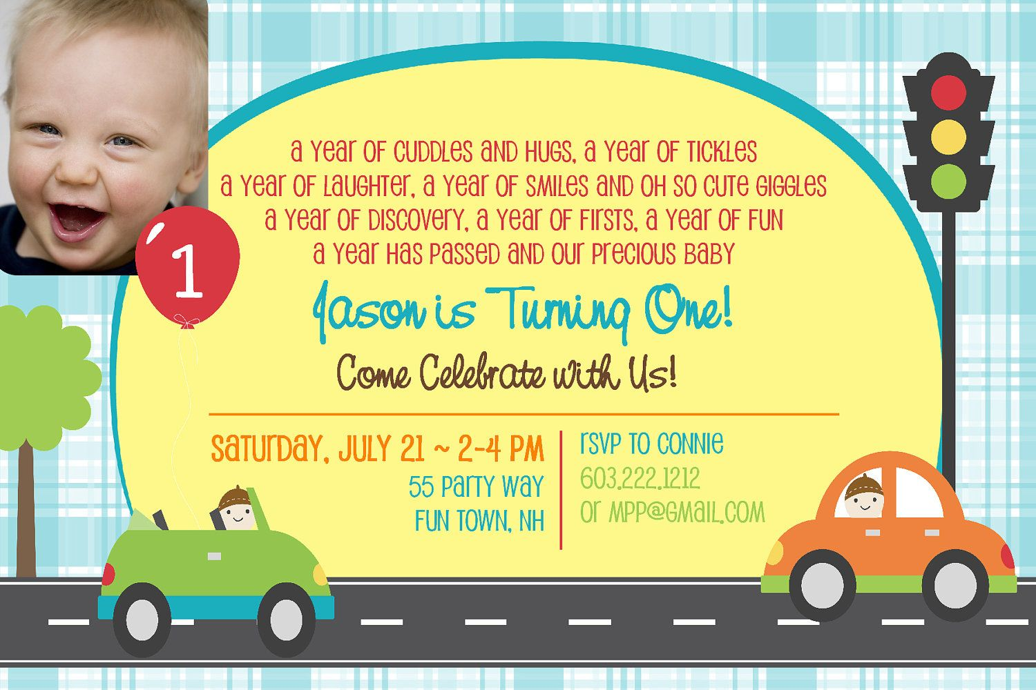 Birthday Party Invitation Cars First By AsYouWishCreations4u