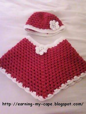 Free Crochet Pattern For A Baby Cowgirl Outfit : Crochet Baby Poncho on Pinterest Baby Poncho, Granny ...