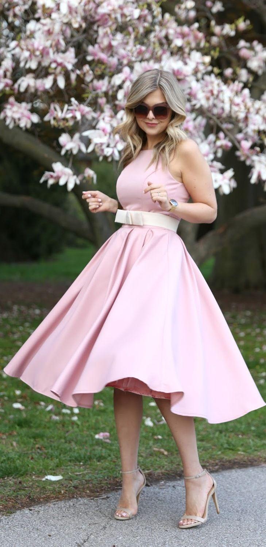 Pink on Pink (Suburban Faux-Pas) | Vestiditos, Mujer romántica y Aptitud