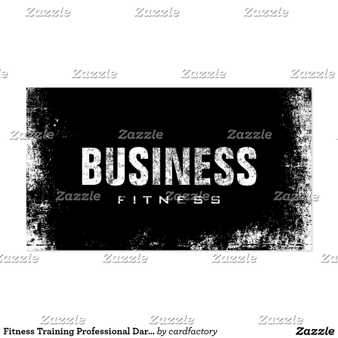 Fitness Training Professional Dark Grunge Business Card #fitness #training #professional #dark #grunge #business #card